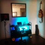 The home studio. I pack this whole thing up a roll on over to lessons!